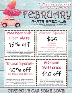 February Parts Specials