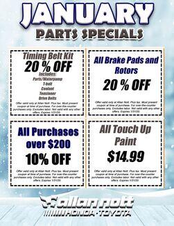 January Parts Specials