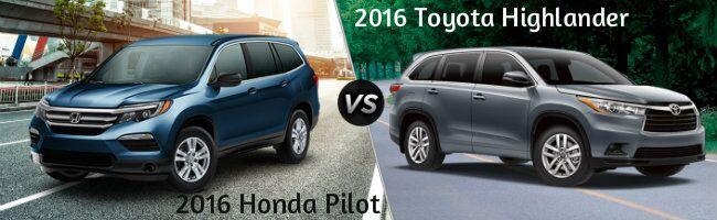 2016 Honda Pilot vs 2016 Toyota Highlander