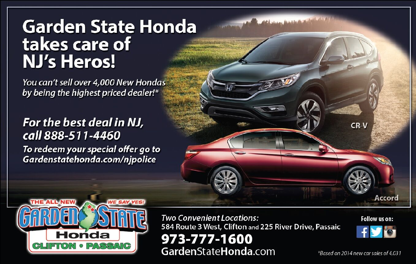 Garden State Honda New Jersey Police Officers