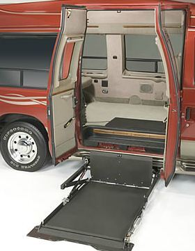 Under vehicle wheelchair lift for van in atlanta ga for Motorized wheelchair lifts for cars
