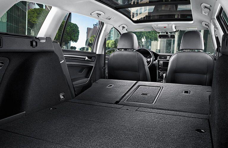 2016 Volkswagen Golf SportWagen rear seats cargo space