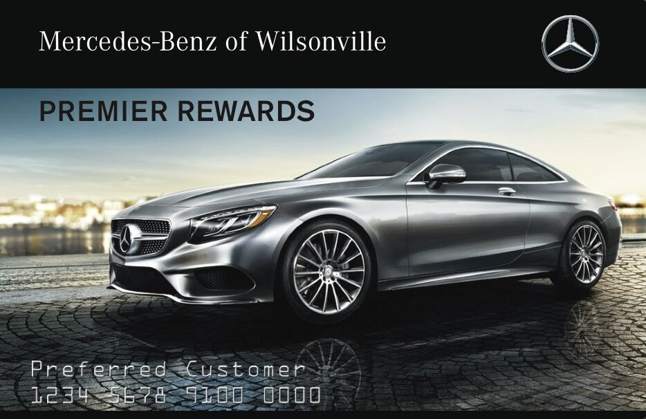 Mercedes benz premier rewards card wilsonville or for Mercedes benz service department
