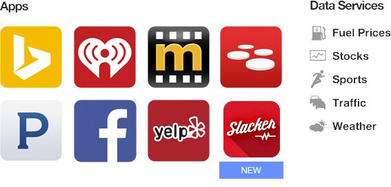 Entune Apps and Data Services