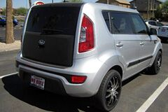 Flat Black Rear Door Wrapof Kia Soul