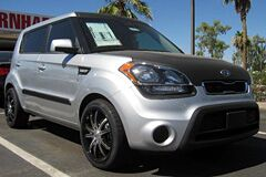 Flat Black Hood Wrap on Kia Soul
