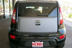 Matte Gray Kia Soul Rear Door Wrap