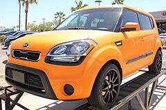 Custom Orange Wrap on new 2013 Kia Soul