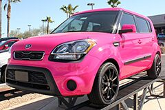 Custom Pink Wrap on new 2013 Kia Soul