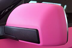 Custom Matte Pink Wrap on Kia Soul