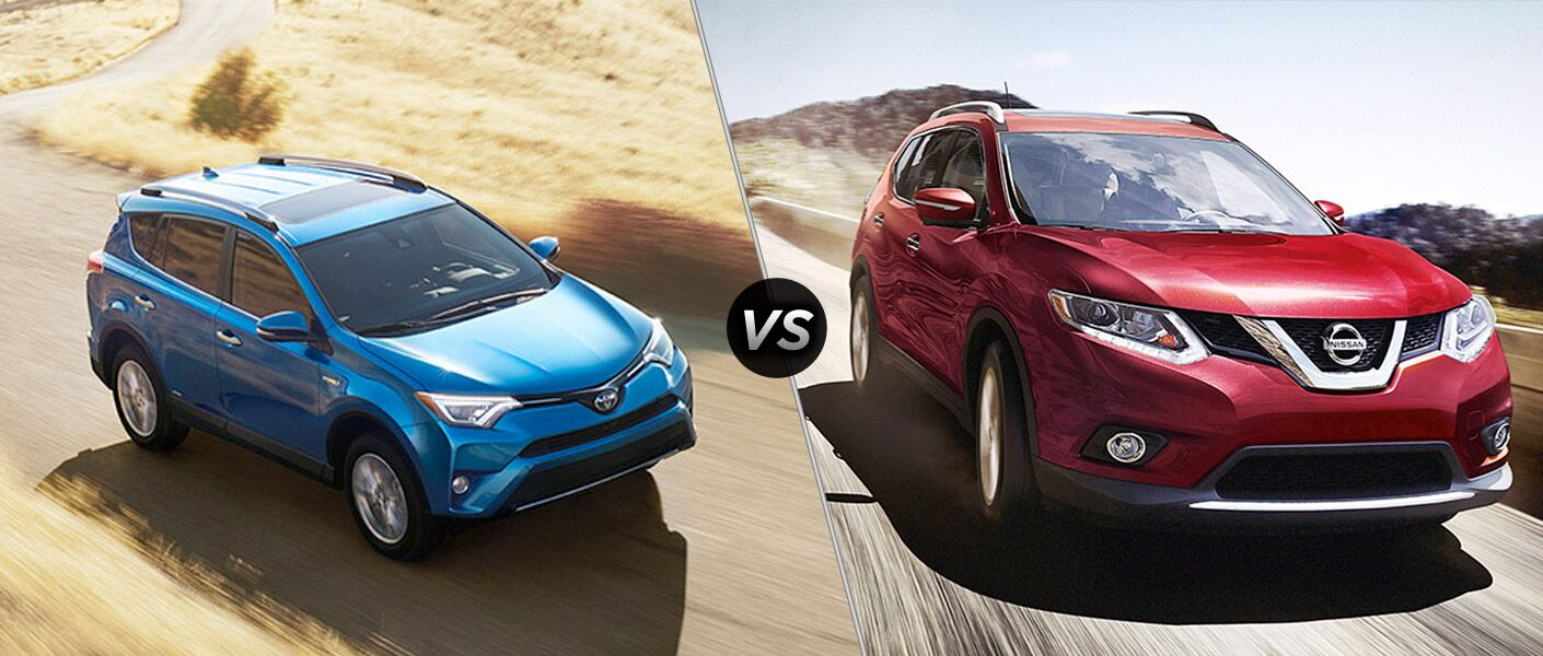 2016 Toyota RAV4 Hybrid vs. 2016 Nissan Rogue crossovers small SUVs 1,750 pounds towing versatile Mike Johnson's Hickory Toyota Hickory NC