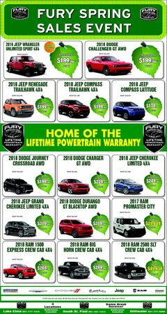Fury Spring Sales Event