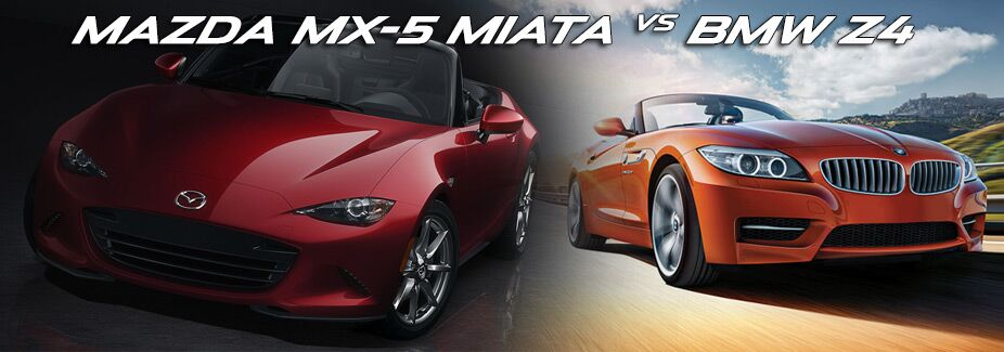 compare mazda mx 5 miata vs bmw z4. Black Bedroom Furniture Sets. Home Design Ideas