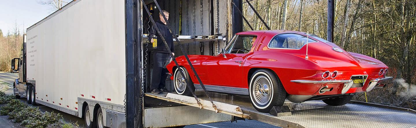 1967 Red Corvette being traded in at Cats Exotics