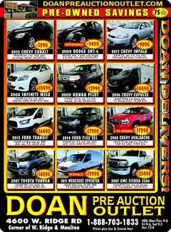 Doan Pre-Auction Outlet