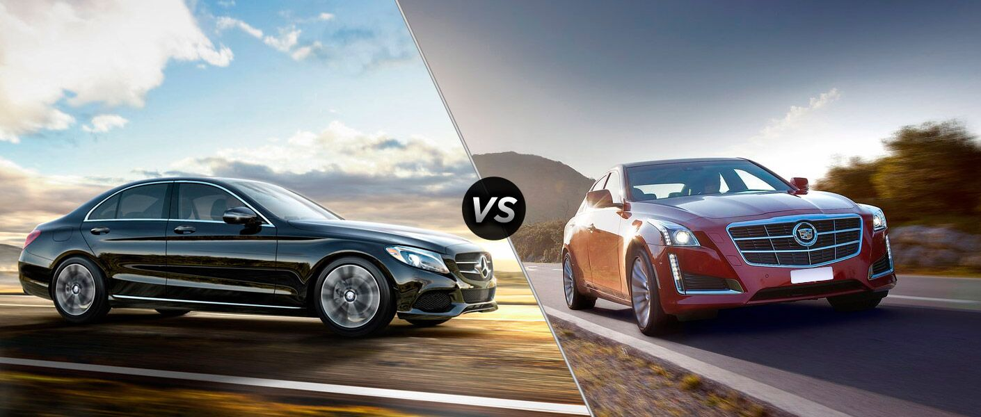 2015 mercedes benz c class vs 2014 cadillac cts for Mercedes benz service appointment