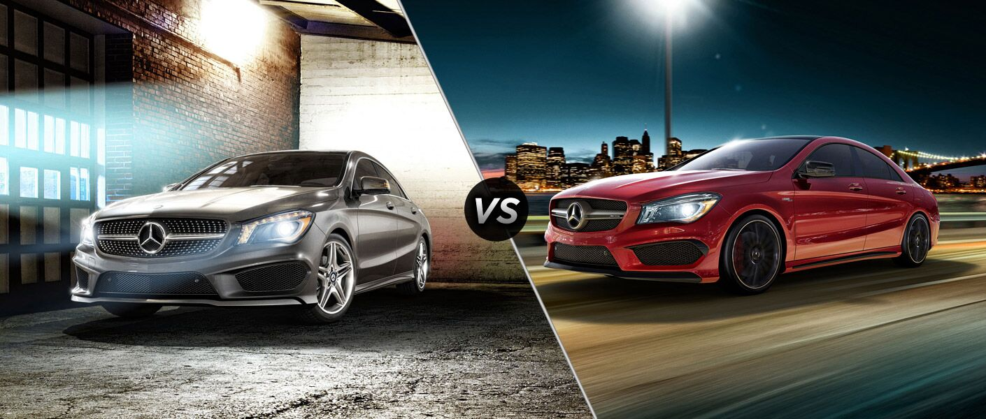 2015 mercedes benz cla250 vs mercedes benz cla45 amg. Black Bedroom Furniture Sets. Home Design Ideas