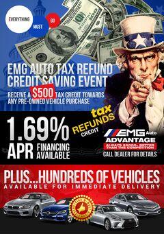EMG Auto $500 Tax Credit Giveaway