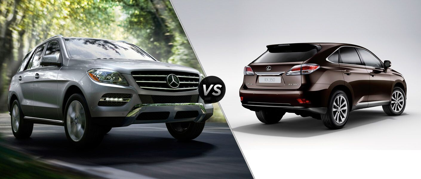 2014 mercedes benz ml350 4matic vs lexus rx350