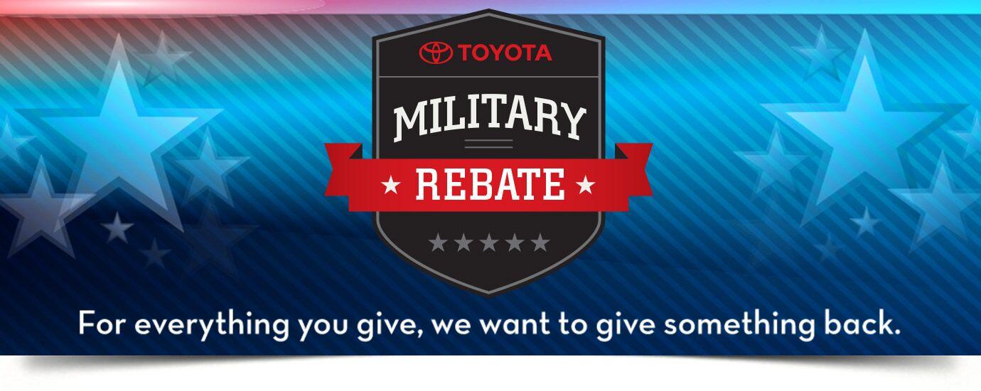 Military Rebate at Evans Toyota