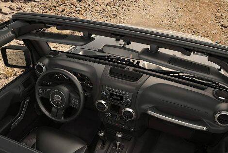 2016 Jeep Wrangler passenger space