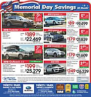Subaru Memorial Day Savings Event!