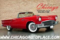 1957_Ford_Thunder Bird_CONVERTIBLE/HARDTOP - SIDE AIR VENTS RED LEATHER INTERIOR REAR WHEEL DRIVE LOOKS AND RUNS GREAT_ Bensenville IL