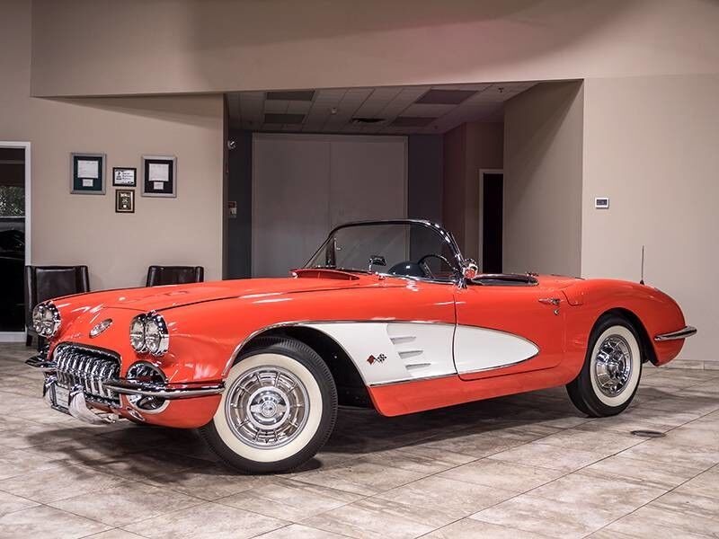 1958_Chevrolet_Corvette_Convertible_ Chicago IL