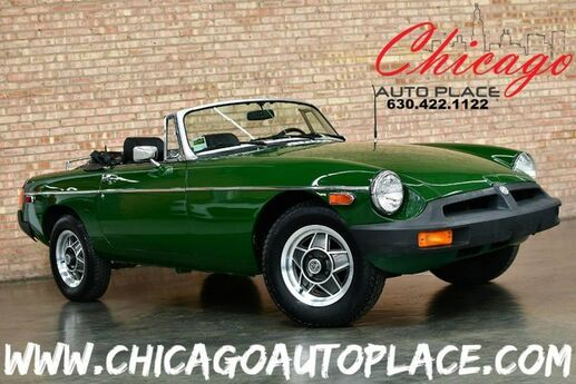 1977 MG B 2-Seat Roadster - 1.8L B-SERIES ENGINE 4 SPEED MANUAL REAR WHEEL DRIVE BLACK LEATHER INTERIOR ALPINE AUDIO VERY CLEAN Bensenville IL