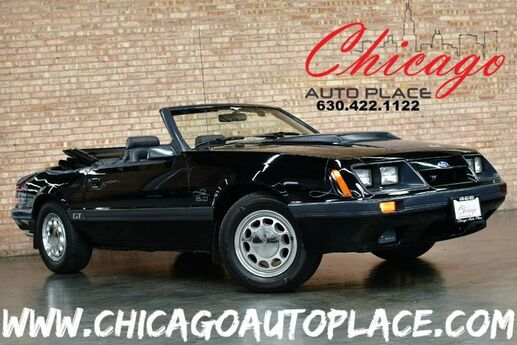 1985 Ford Mustang GT 5.0 Convertible - 5.0L V8 ENGINE 5-SPEED MANUAL REAR WHEEL DRIVE ORIGINAL MILES + CONVERTIBLE TOP CHROME EXHAUST GRAY LEATHER Bensenville IL