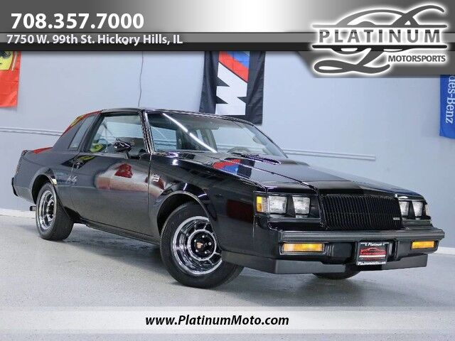 1987 Buick Regal Grand National Rare Loaded Up GN T Top's Twilight Sentinel Eagle GT Power Everything WOW Hickory Hills IL
