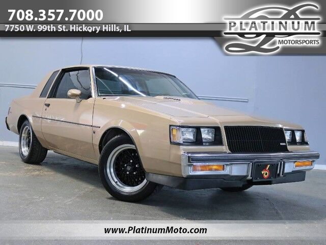 1987 Buick Regal Turbo T Rare Option T Hard Top GNX Wheels Center Console Shifter Power Antenna Hickory Hills IL