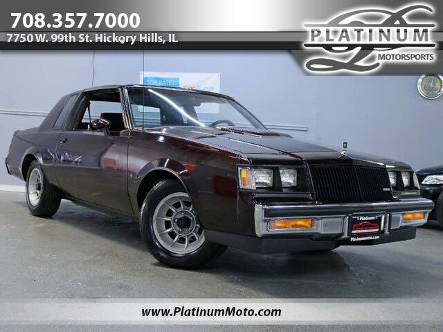 1987 Buick Regal Turbo T T Top Low Miles Low Option Turbo T Hickory Hills IL