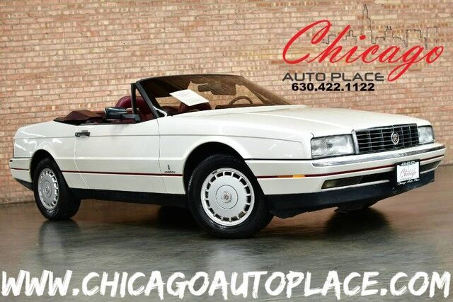1988 Cadillac Allante' HARDTOP/CONVERTIBLE - 4.1L 8-CYL ENGINE FRONT WHEEL DRIVE BURGUNDY RED LEATHER DIGITAL LCD GAUGES CLIMATE CONTROL PREMIUM ALLOY WHEELS Bensenville IL