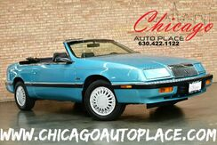 1992_Chrysler_Lebaron_LX Convertible - 3.0L 6-CYL ENGINE 1 OWNER BLACK LEATHER INTERIOR PREMIUM ALLOY WHEELS_ Bensenville IL