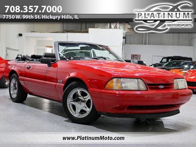 1993 Ford Mustang LX 5.0 Rare Find 1 of 601 Auto Power Everything Factory Chrome Pony's All Vin Tags in Place Hickory Hills IL