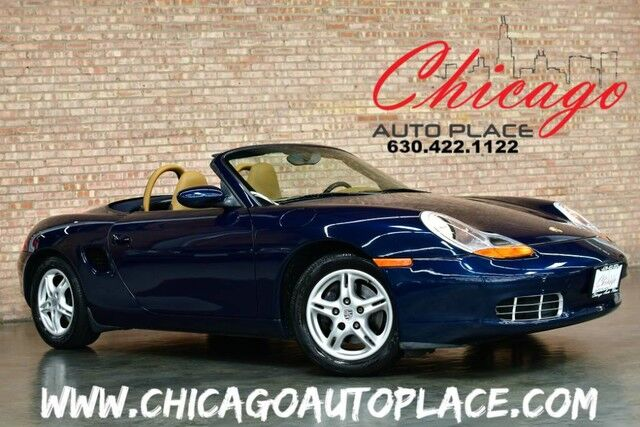 1998 Porsche Boxster ROADSTER   2.5L 6 CYL ENGINE NAVY BLUE SOFT TOP TAN ...