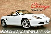 1998 Porsche Boxster Roadster - 2.5L EFI WATER-COOLED HO 6-CYL ENGINE REAR WHEEL DRIVE 5-SPEED MANUAL TAN LEATHER HEATED SEATS PREMIUM ALLOY WHEELS BLACK CONVERTIBLE SOFT-TOP