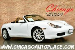 1998_Porsche_Boxster_Roadster - 2.5L EFI WATER-COOLED HO 6-CYL ENGINE REAR WHEEL DRIVE 5-SPEED MANUAL TAN LEATHER HEATED SEATS PREMIUM ALLOY WHEELS BLACK CONVERTIBLE SOFT-TOP_ Bensenville IL