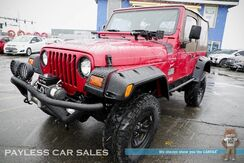 1999_Jeep_Wrangler_Sport / 4X4 / Automatic / 2-Door Soft Top / CB Radio / Body Lift / 9K lb BADLAND Winch / Custom Front & Rear Bumper / Off-Road Lights / Custom Sound System & Subwoofer / Only 70K Miles / New Tires_ Anchorage AK