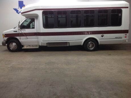 2000 Ford Econoline Commercial Cutaway E450 25 Passenger Shuttle Bus rear AC Built by Aerotech Mansfield TX