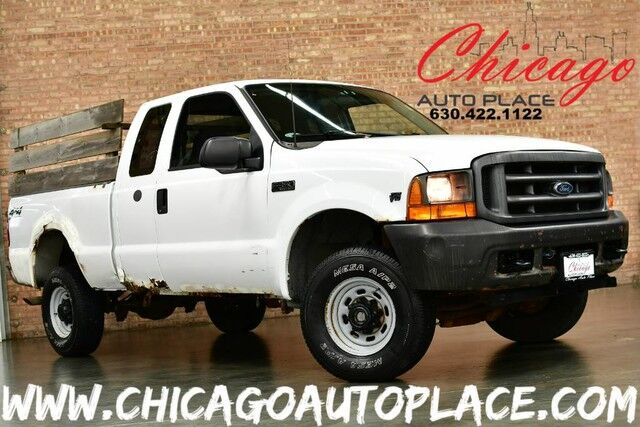 2000 Ford Super Duty F-350 SRW XL SUPERCAB - 6.8L SEFI V10 ENGINE 4 WHEEL DRIVE RUGGED LINER BED LINER GRAY CLOTH INTERIOR Bensenville IL