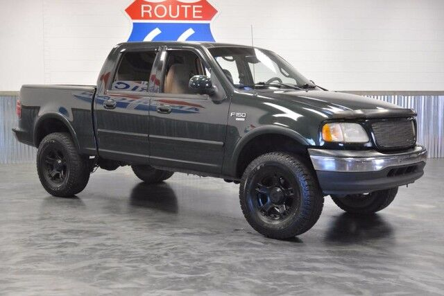 2001 ford f 150 supercrew 4wd 3 rough country lift blacked out wheelsnitto tires mechanic owned 54l v8 nicest in the state norman ok 21337557