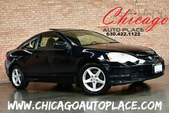 2002_Acura_RSX_Type S - 6 SPEED MANUAL 2.0L 4-CYL ENGINE BLACK LEATHER SPORT BUCKET SEATS SUNROOF PREMIUM ALLOYS_ Bensenville IL