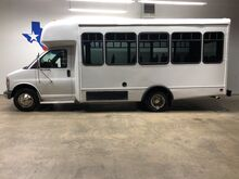 2002_Chevrolet_Express Commercial Cutaway_22 Passenger Van Shuttle Bus Rear AC DRW Power Doors_ Mansfield TX