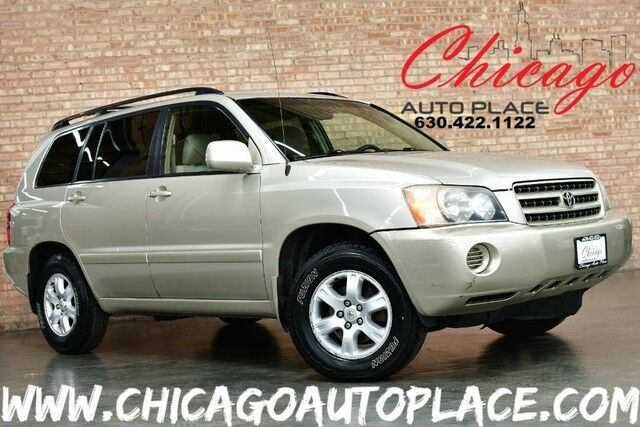 2002 Toyota Highlander Limited - 3.0L V6 ENGINE FRONT WHEEL DRIVE CLIMATE CONTROL TAN CLOTH INTERIOR CD PLAYER PREMIUM ALLOY WHEELS Bensenville IL