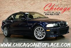2003_BMW_3 Series_M3 - 3.2L DOHC I6 ENGINE REAR WHEEL DRIVE SMG TRANSMISSION 1 OWNER 2 KEYS BLACK LEATHER HEATED SEATS SUNROOF XENONS BRUSHED ALUMINUM INTERIOR TRIM_ Bensenville IL