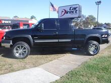 2003_CHEVROLET_SILVERADO 2500HD_EXTENDED CAB TURBO DIESEL 4X4, CARFAX CERTIFIED, LIFTED, PREMIUM WHEELS, BLUETOOTH, SAT, LOW MILES!_ Virginia Beach VA