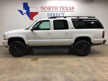 2003_Chevrolet_Suburban_Z71 4x4 Lifted Heated Leather Black Rhino Rear Ac 3rd Row_ Mansfield TX