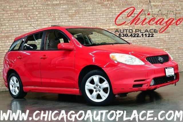 2003 Toyota Matrix XR - 1.8L DOHC 4-CYL ENGINE FRONT WHEEL DRIVE BLACK CLOTH INTERIOR SUNROOF ALLOY WHEELS CLIMATE CONTROL FRONT POWER OUTLET Bensenville IL